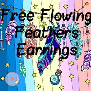 Free Flowing Feather Earrings